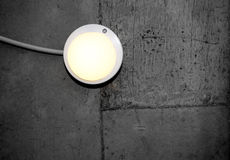 Lantern on the backgroubd of concrete wall Royalty Free Stock Photo