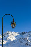 Lantern on a background of blue sky Royalty Free Stock Photography