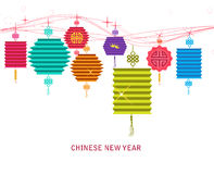 Lantern background for traditional of Chinese new year.  Stock Photo