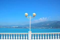 Lantern and balustrade Royalty Free Stock Photography
