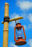 Lantern on bamboo pole Stock Photography