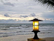Lantern at the beach 1 Stock Images