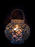 Lantern on black background Royalty Free Stock Photos