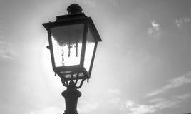 Lantern. In black and white style Stock Photo