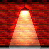 Lantern on brick wall Royalty Free Stock Photography