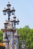 Lantern at Buckingham Palace in London in England. Lantern at Buckingham Palace in the City of Westminster in London in England Royalty Free Stock Photography