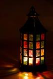 Lantern burning in the dark Royalty Free Stock Image