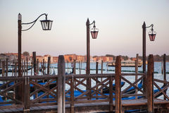 Lantern at Canal Grande in Venice Stock Photo