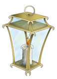 Lantern with candle Royalty Free Stock Photos