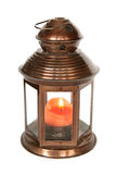 Lantern with candle Stock Images