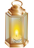 Lantern with a candle Royalty Free Stock Photo