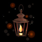 A Lantern with candle Royalty Free Stock Photo