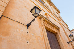Lantern of the Cathedral in Santanui, Mallorca. Spain Royalty Free Stock Photography