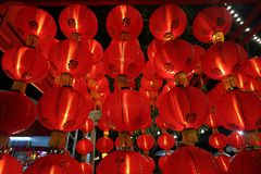 Lantern in Chinese New year festival. Lantern lighting in festival Stock Photos