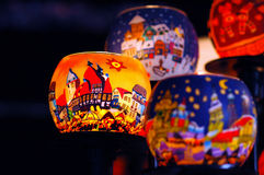 Lantern on christmas market Stock Images