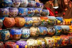Lantern on christmas market Stock Images