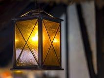 Lantern Christmas Market Stock Photo