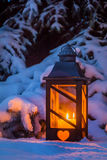Lantern for christmas in the snow Royalty Free Stock Images