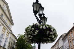 Lantern in the city center Stock Images