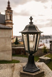 Lantern closeup about Church of Annunciation and Marian Royalty Free Stock Photos