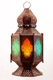 Lantern with colored stained glass Stock Image