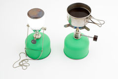 Lantern and cooking stove Stock Image