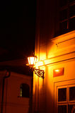 Lantern in a dark alley Royalty Free Stock Images