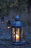 Lantern in the dark Stock Photography