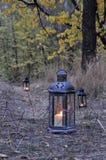 Lantern in the dark Royalty Free Stock Photos