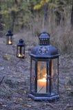 Lantern in the dark Royalty Free Stock Photography