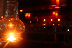 Lantern in darkness Stock Image