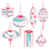 Lantern design collection Royalty Free Stock Photography