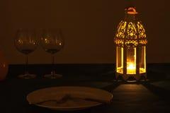 Lantern dinner Stock Photography