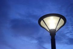 Lantern electric lamp for  irradiate in night. Royalty Free Stock Image