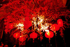 Lantern in the Empire Palace. In Chinese New Year celebrations in Surabaya, East Java, Indonesia Stock Photography