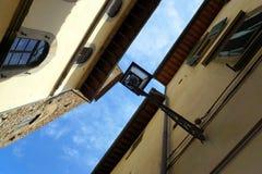 Lantern and facades of Florence, Italy, Europe Stock Photos
