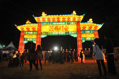 Lantern festival in Indonesia stock photography