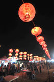 Lantern festival in Indonesia. A various shapes of latern displayed in an annual festival to welcoming the Chinese New Year in Surakarta, Indonesia stock photos