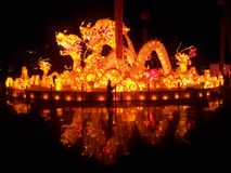 The Lantern Festival Lantern. China Lantern Festival Dragon Style Lantern royalty free stock images