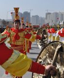 Ancient costume Northern Shaanxi stock photography