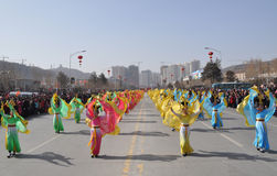 Northern Shaanxi Dance stock photography