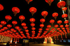 Lantern Festival at the park of Song-dynasty Town Royalty Free Stock Photos