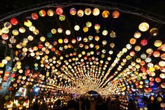 The 2017 Lantern Festival in Taiwan Royalty Free Stock Photos
