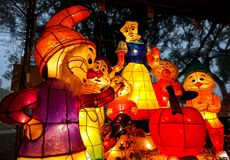 The 2015 Lantern Festival in Taiwan Royalty Free Stock Images