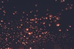 Lantern festival vintage style. Lantern festival in Thailand vintage style Stock Image