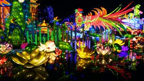 Lantern Festival in Zigong, Sichuan. Lanterns, also known as flower lanterns, is a popular traditional Chinese folk arts and crafts as New Year celebration royalty free stock image
