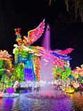 Lantern Festival in Zigong, China. Lanterns, also known as flower lanterns, is a popular traditional Chinese folk arts and crafts as New Year celebration Stock Images