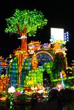 Lantern Festival in Zigong, Sichuan. Lanterns, also known as flower lanterns, is a popular traditional Chinese folk arts and crafts as New Year celebration Royalty Free Stock Photos