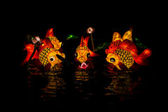 Lantern fish at Lantern Festival. Figure of Lantern Fish is at Hatyai Lantern Festival in Songkhla Province, Thailand Stock Photography