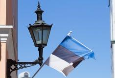 Lantern and flag of Estonia Royalty Free Stock Photo